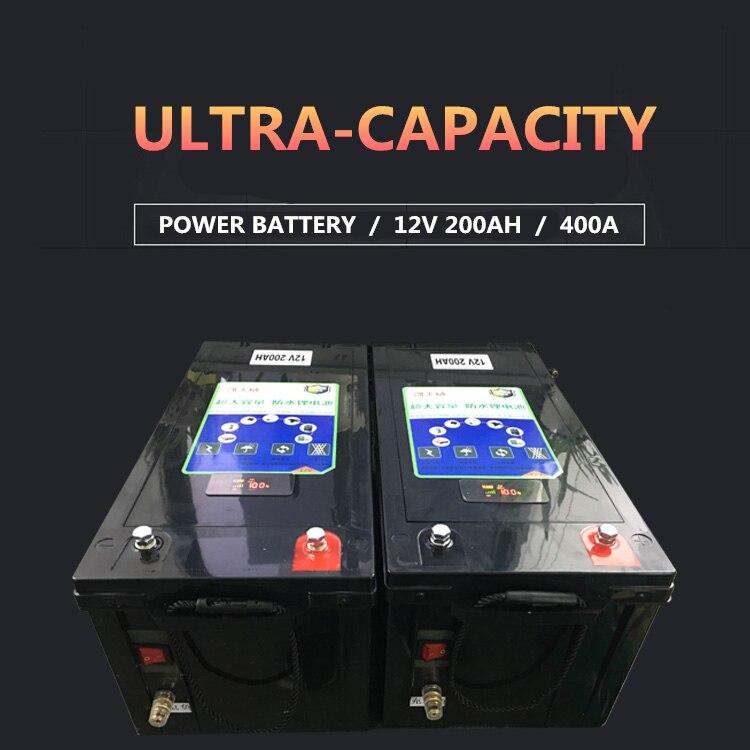 Batteries de li-ion de li-polymère de la batterie 12 V 200AH/400AH de moteur de bateau pour des autocaravanes/chargeur portatif de secours extérieur d'énergie solaire - 2