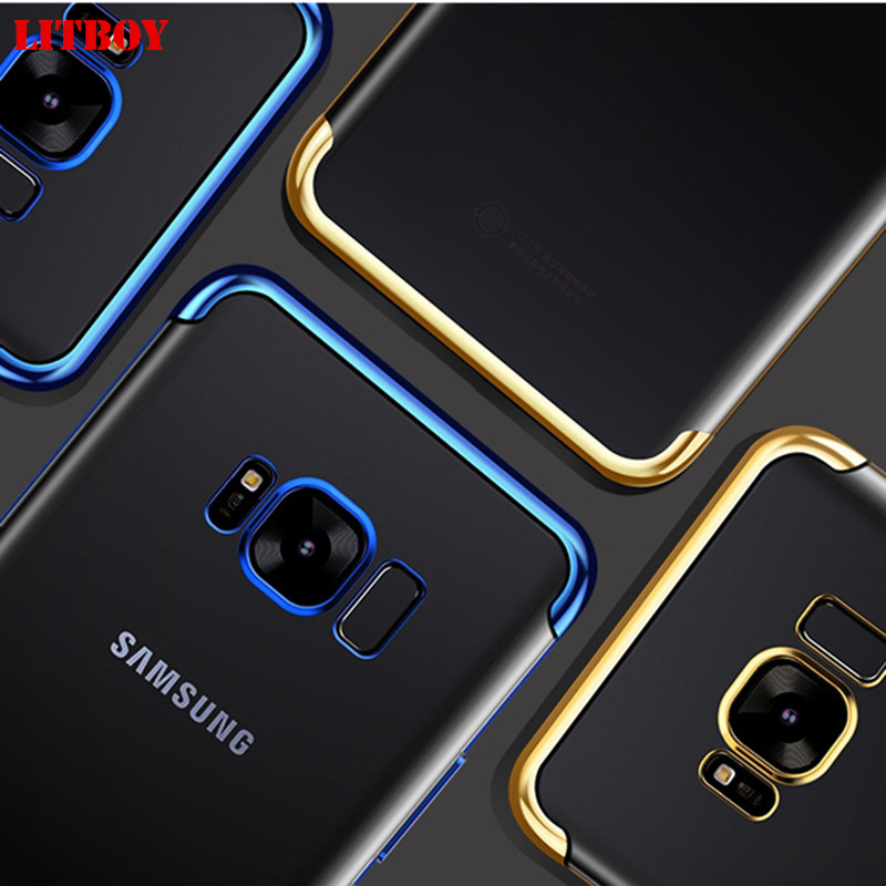 LITBOY Ultra Thin Soft TPU Case For Samsung Galaxy A5 2017 A3 A7 2017 A8 2018 Pating soft Case For Samsung A8 Plus A520 Cover