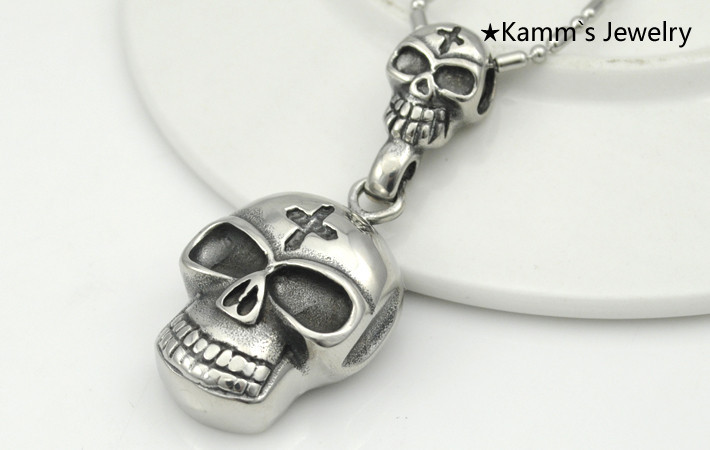 """Men/'s//Women/'s skull Pendant Arrival Stainless Steel Necklace 20/"""" Fashion Jewelry"""