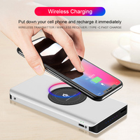 Qi Wireless Charger Power Bank 20000mAh For iPhone X 8 Plus Samsung Note 8 S9 S8 Plus Poverbank USB Mobile Phone Battery Charger