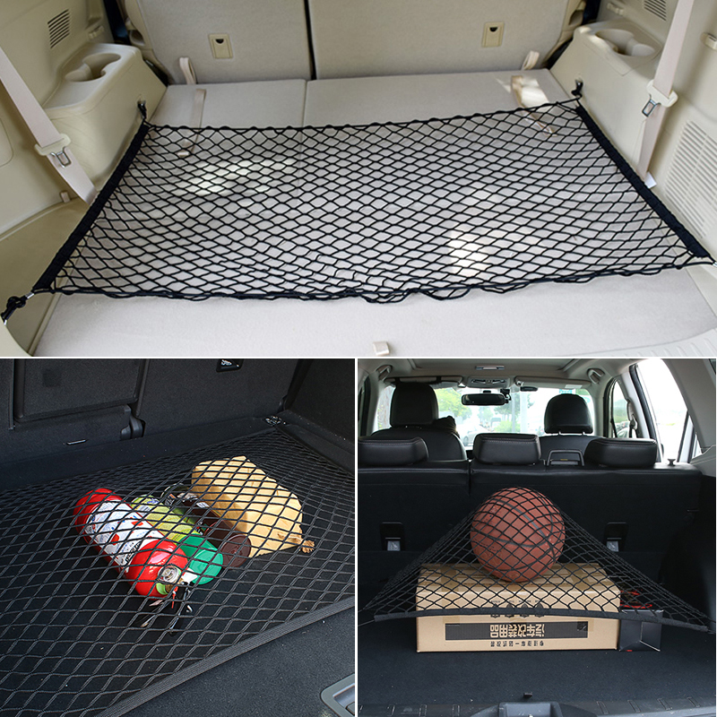 Car Trunk Cargo Mesh Net Luggage 4 HooK For Honda civic accord crv fit dio city hornet hrv <font><b>Subaru</b></font> Forester <font><b>Outback</b></font> Legacy XV WRX image