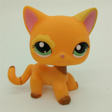 The newest Pet shop Sparkle Eyes Orange Short Hair kitty Collection classic animal pet LPS toys Action figures kids toys gift