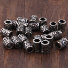 Viking Bead Runes Charms For Beard Or Hair Jewelry Making Odal Futhark Rune(China)