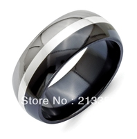 FREE SHIPPING USA WHOLESALES CHEAP PRICE BRAZIL RUSSIA CANADA UK HOT SALE 8MM DOME ENGRAVED BLACK NEW MENS TUNGSTEN WEDDING RING