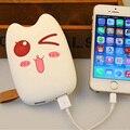 Мобильный Банк Питания 8000 мАч Dual USB Прекрасный Мультфильм powerbank внешняя Батарея Портативное Зарядное Устройство для всех телефонов