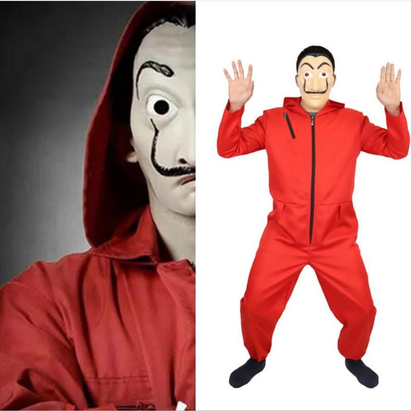 Adult kids Salvador Dali Money Heist The House of Paper La Casa De Papel Cosplay Costumes Mask Halloween