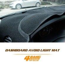 Car Auto Dashboard Avoid Light Pad Instrument Platform Cover Mats Black Carpets Accessories For Toyota Highlander 2007-2013