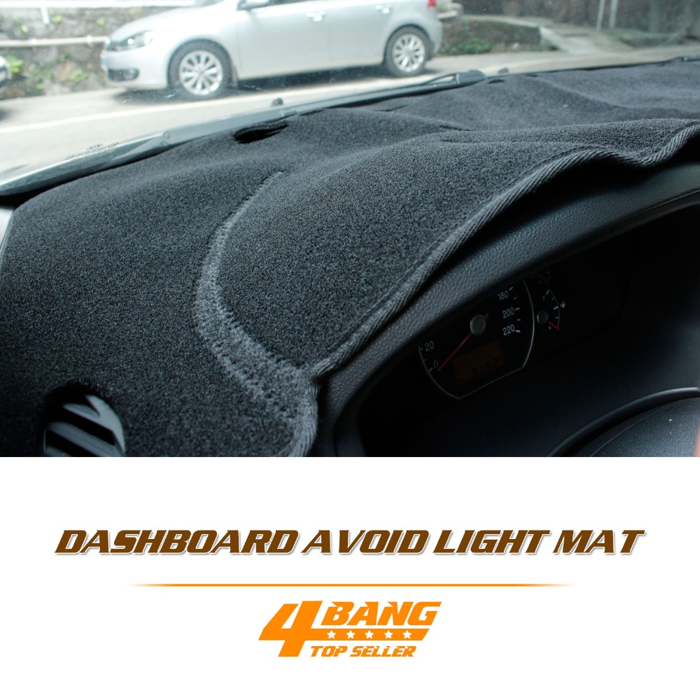 For Toyota Highlander 2007-2013 Car Auto Dashboard Avoid Light Pad Instrument Platform Cover Mats Black Carpets Accessories