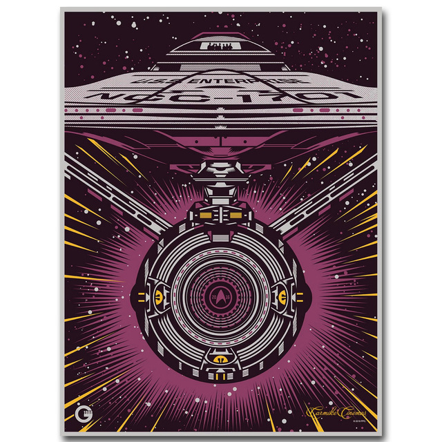 Star Trek 3 Beyond Art Silk Fabric Poster Print 13×18 24×32 inch 2016 New Movie USS Enterprise Picture for Room Wall Decor 003