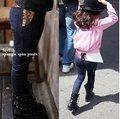 Venta caliente del envío libre 2-6 años del bebé Chica de Moda leggings throusers/Niñas paillette vaqueros pantalones de los niños para niños