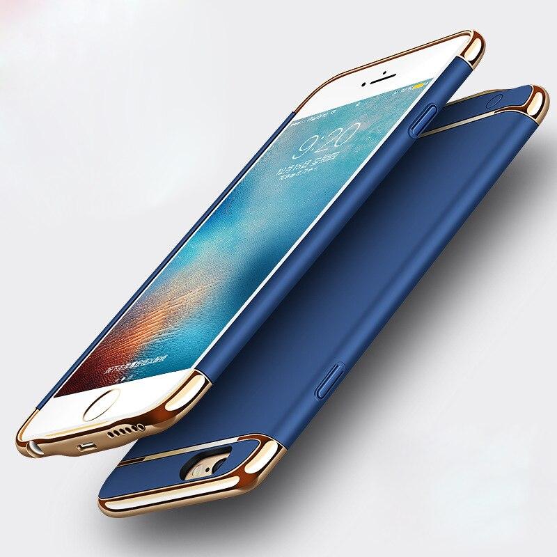 imágenes para Caso Del Cargador de batería Para el iphone 6 6, además de 2500 mAh/3500 mAh Banco de Potencia Ultra Delgada Caja de Batería de Reserva Externo para el iphone 7 plus 7