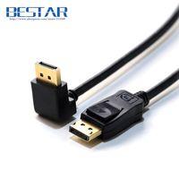 Elbow Down Angled 90D Standard 1 2v DisplayPort Male To Display Port Male DP DisplayPort Cable