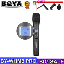 BOYA BY-WHM8 Pro Microphone for karaoke interview speech music recording stage 48-Channel UHF Wireless Handheld Dynamic Mic boya by whm8 professional 48 uhf microphone dual channels wireless handheld mic system lcd display for karaoke party liveshow