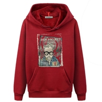 Man 3D Printed Hoodies Casual Clothing Spring Autumn Men Velvet Long Sleeve Sweatshirt S M L