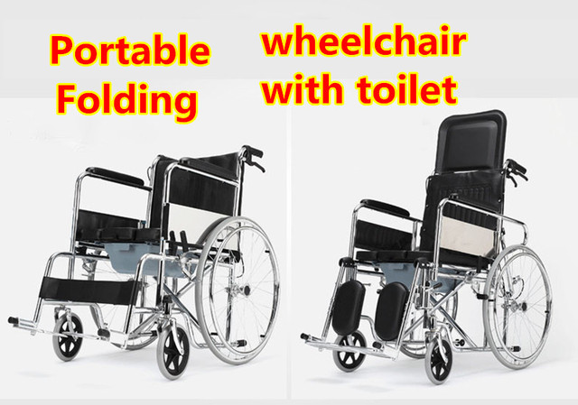 Image of: Disabled Es19 Portable Lightweight Useful Mobile Toilet Chair Old People And Distabled Wheelchair With Bedpan Aliexpresscom Portable Lightweight Useful Mobile Toilet Chair Old People And