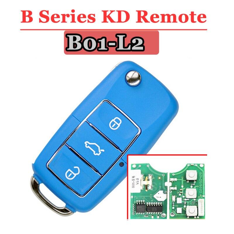 Free shipping (5 pcs/lot))Keydiy B01L-03 Luxury 3 Button B series Remote Key with Blue colour for URG200/KD900/KD200 free shipping 10 pcs lot metal blank uncut flip kd remote key blade type 50 for hyundai tucson