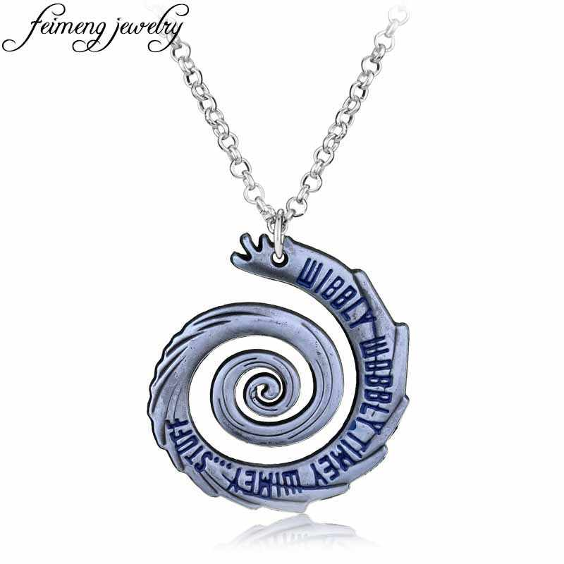Classic Movie Doctor Who Necklace Dr Mysterious Wibbly Wobbly Timey Wimey Alloy Link Chain Charm Pendant Jewelry For Men