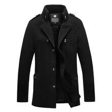 2017 mode männer wollmäntel business casual jacke winter peacoat oberbekleidung m l xl xxl 3xl 4xl af12