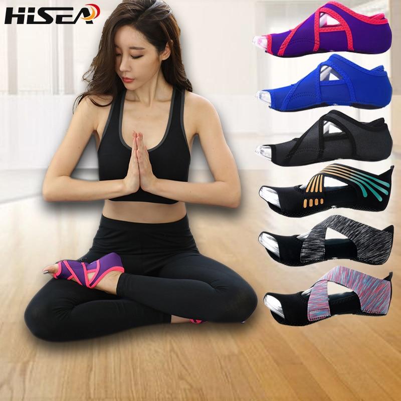 Women Yoga Socks Half Toe Non Slip Ladies Massage Sport Socks Half-fingers Neoprene Pilates Ballet Dancing Socks