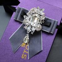 موضة جديدة العنق جميل العريس الماس القوس العلاقات حفلة الزفاف هدايا أنيقة فراشة الحرير الغزل gravata القوس التعادل