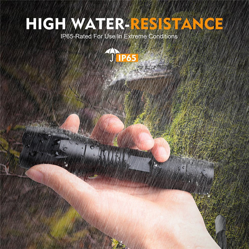 15000LM 3T6 LED Zoomable Flashlight Waterproof Torch Light Lamp 18650