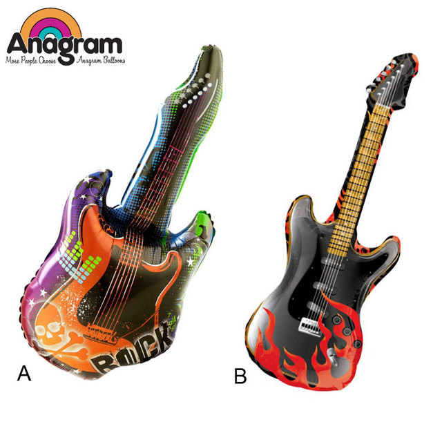 1 pcs/lot Anagram Rock sur Guitare Supershape Foil Ballons ...