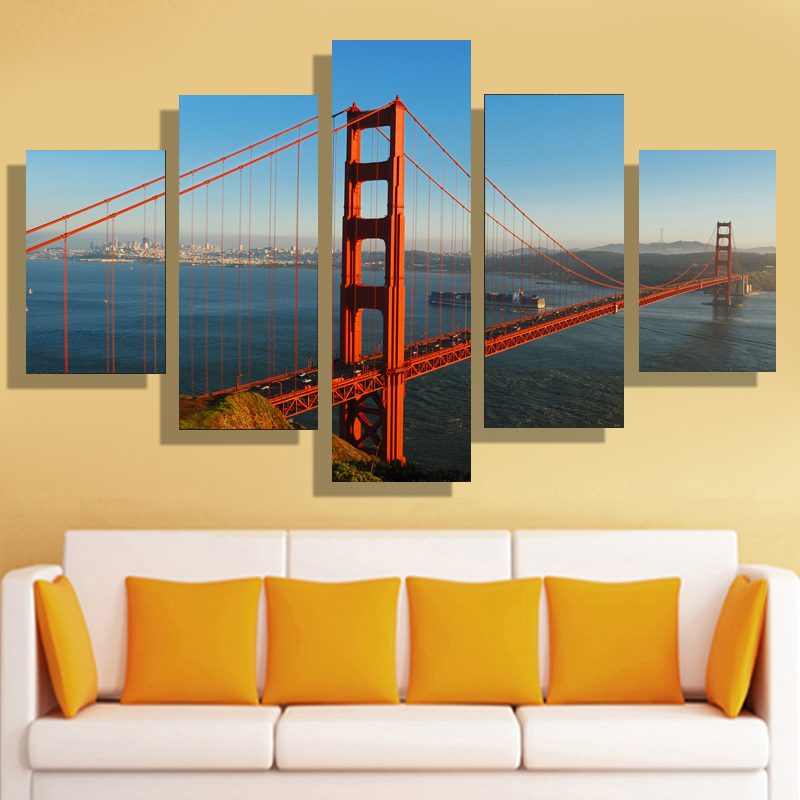 Contemporary San Francisco Wall Decor Vignette - Wall Art ...