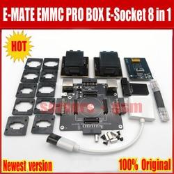 2019 el más nuevo Original E-MATE caja EMMC BGA 8 IN1 apoyo BGA100 136, 168, 153, 169, 162, 186, 221, 529, 254 para la fácil jtag más la asociación de Rif