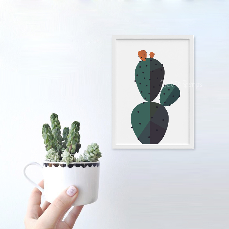 Cactus Wall Art aliexpress : buy plant desert cactus wall art canvas painting
