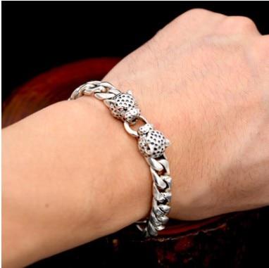 100% real silver 925 mens bracelet 9mm chain bracelet argent 19.5cm gift for men silver 925 bracelet mens bracelets handmade star bracelet 9mm