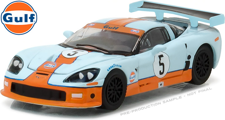 Green Light 1:64 2009 Chevy Corvette C6 R Gulf Oil boutique alloy car toys  for children kids toys Model original box