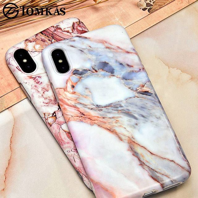 TOMKAS Patterned Case For iPhone X iPhone 10 Cases Cover Luxury Cute Marble  Back Conque Case 70561d9a1