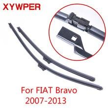 XYWPER стеклоочистителей для Fiat Bravo 2007 2008 2009 2010 2011 2012 2013 автомобильные аксессуары мягкая Резина Стеклоочистители