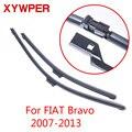Стеклоочистители XYWPER для Fiat Bravo 2007 2008 2009 2010 2011 2012 2013 Автомобильные аксессуары мягкие резиновые стеклоочистители