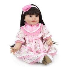 NPKDOLL silicona Reborn Baby Doll niñas juguetes 22 pulgadas Linda muñeca para regalo de Navidad bebes Reborn niños juguete juego muñeca l o l