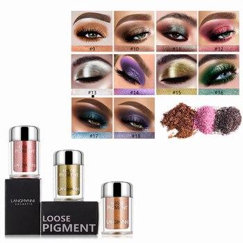 LANGMANNI 18 Color Glitter Eyeshadow Waterproof Long Lasting Shimmer Makeup Eye Shadow Palette Cosmetics  Sombrasde Ojos  TSLM1