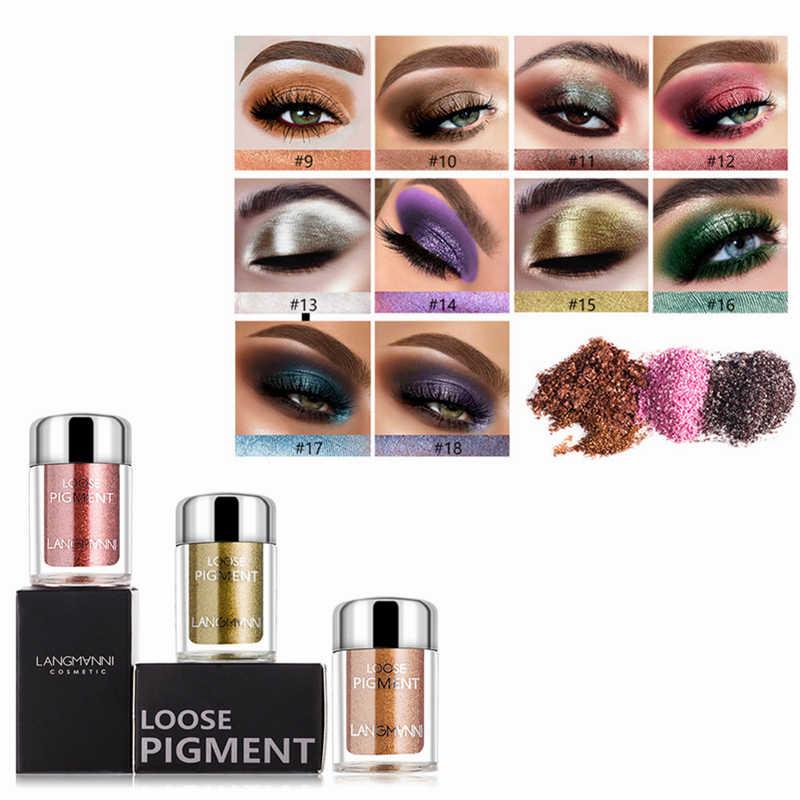 LANGMANNI 18 kolor brokat cień do powiek wodoodporny, długi trwały migotliwy makijaż paleta cieni do powiek kosmetyki Sombrasde Ojos TSLM1
