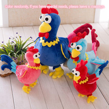 2017 New Year Gifts Lucky Rooster Phoenix Plush Chicken Stuffed Animals Birds Peacock Toys Gift For Children Kids Girls 40cm