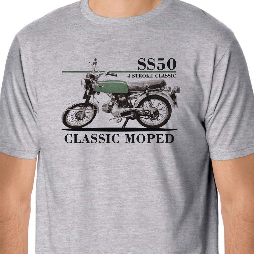 2018 Hot Sale 100% Retro Bikes - japan motorcycles SS50 Classic Moped Inspired T-Shirt Summer Style Tee Shirt