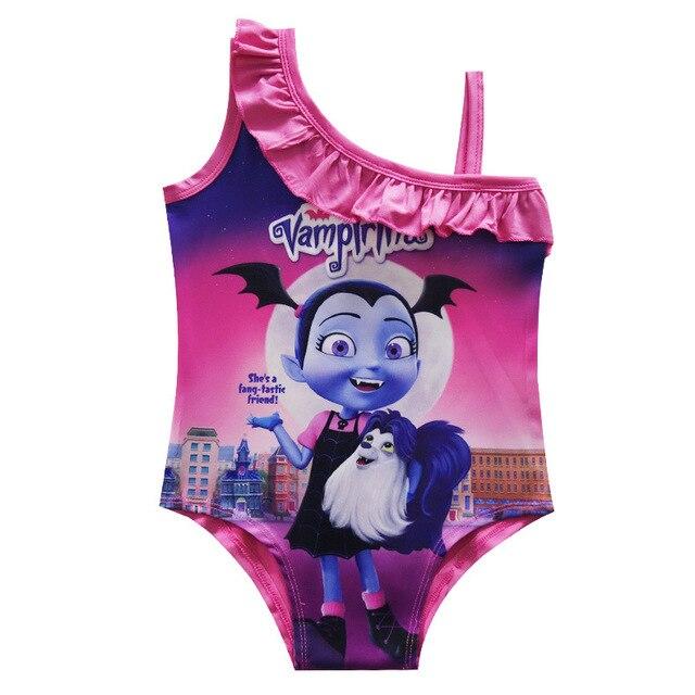 e90affced83f5 2018 Baby Girls Swimwear Summer Kids Vampirina Swimsuit Children Bathing  Suit Girls Cartoon Vampirinas SwimSuit Bathers Hot Sell