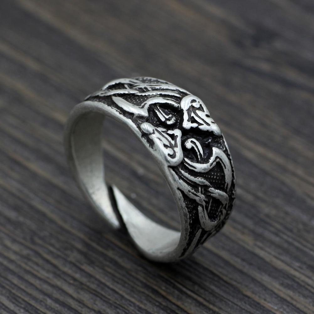 Viking Norse Viking Pagan Dragons Celtic Dragons Ringjormungandr Ring  Fafnir Nidhogg Jormungand(china (mainland
