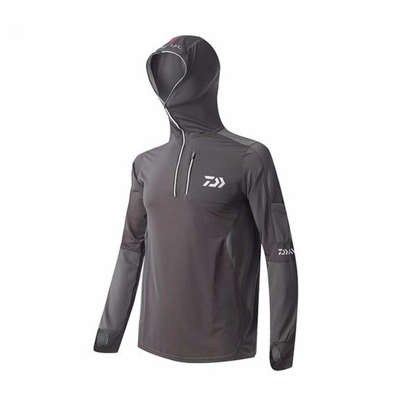 2017 brand daiwa fishing clothing breathable sunscreen for Men s upf long sleeve shirt