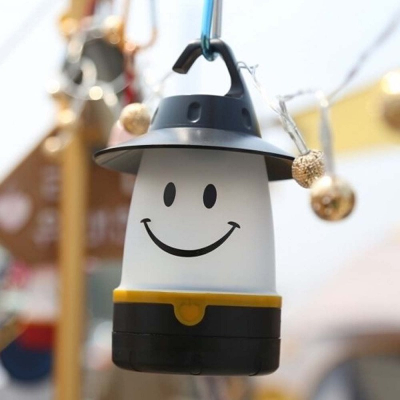 Lovely Smile lantern, Smiley Face LED Night Light Portable Moving Table Lamp for Indoor