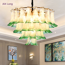 Nordic LED Crystal Simple Pendant Lights Lighting Peacock Green Interior Decorative  Lamp Modern Lamps Luminaria