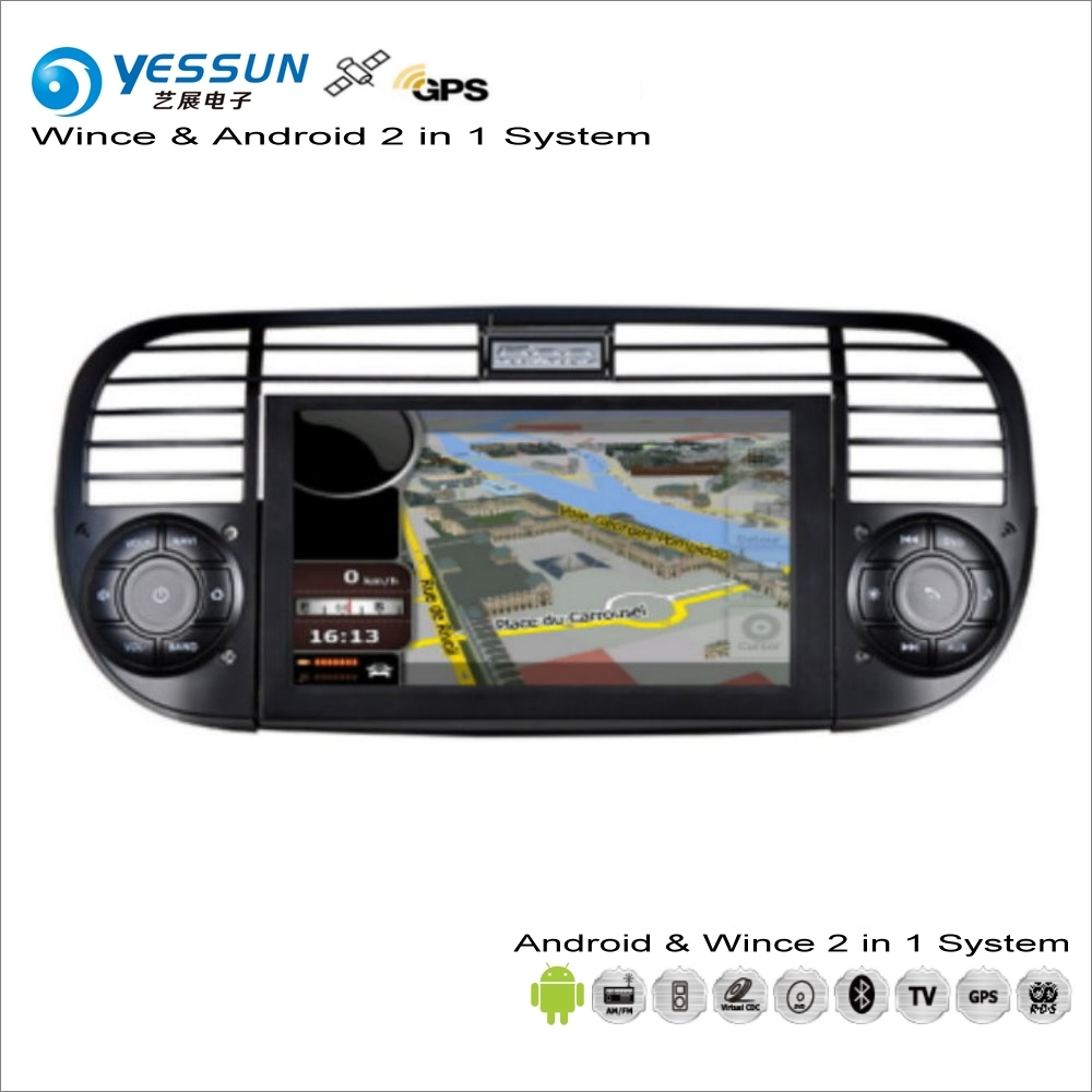 yessun for fiat 500 2007 2016 car android multimedia radio. Black Bedroom Furniture Sets. Home Design Ideas