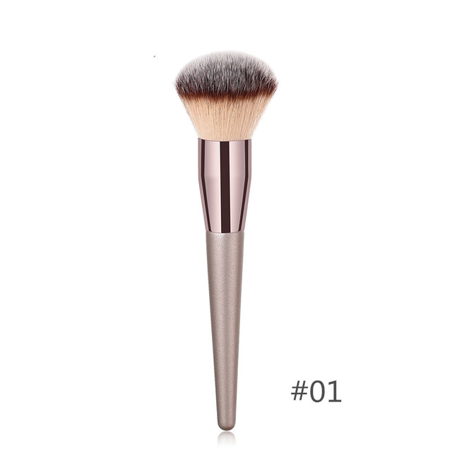 1PC Foundation Makeup Brush Coffee Handle Professional Facial Powder Eyeshadow Blush Eyebrow Lip Brush Large Soft Cosmetic Brush 1