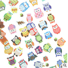 Creative Korean Style Colorful Owl Decorative Stickers Mobile Phone Stickers Stationery DIY Album Stickers FOD