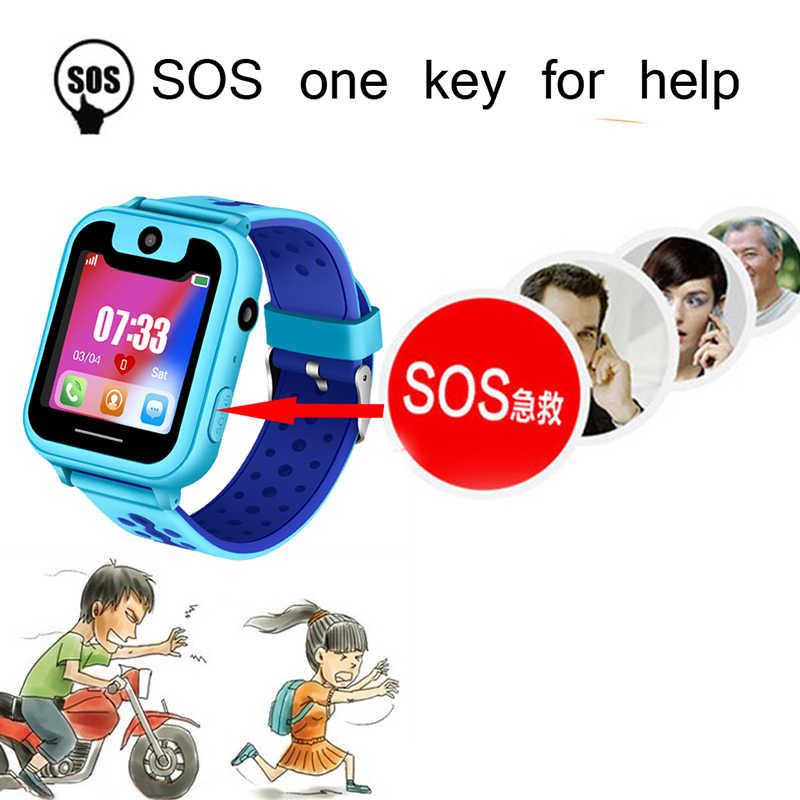 ילדים עמיד למים Smartwatch SOS חירום שיחת £ אבטחת מיצוב מעקב לתינוק דיגיטלי תמיכת SIM הלו קיט