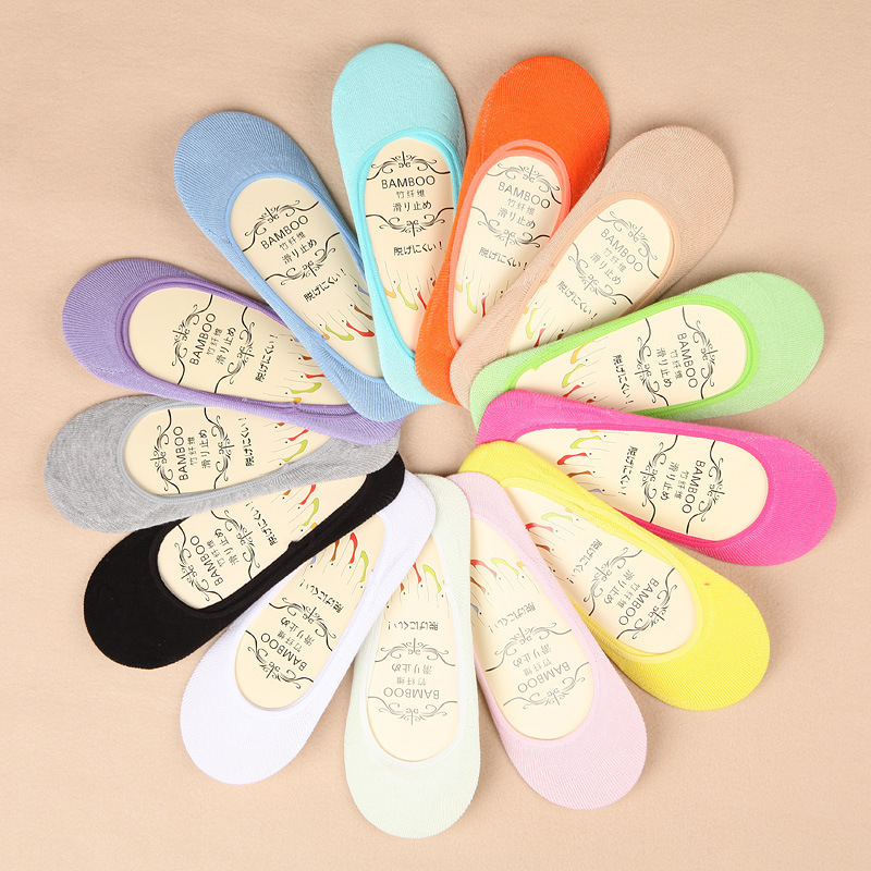 13 color summer comfortable cotton girl women's socks ankle low female invisible color girl boy hosiery 1pair=2pcs ws45