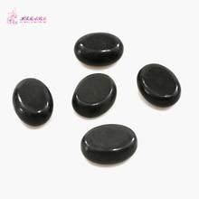 HIMABM 4*3*1.7cm 5PCS/ Pack Natrual Hot Spa Black Basalt Stone Massage Essential Oil Massage Stone Volcanic Energy Stone SPA